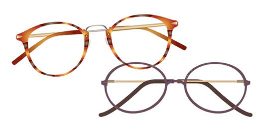 適切な眼鏡で見る