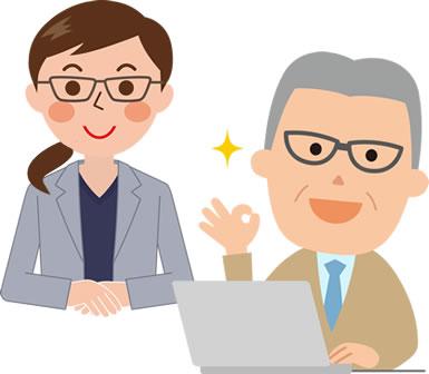 オフィス作業はコンタクトレンズよりメガネがよい