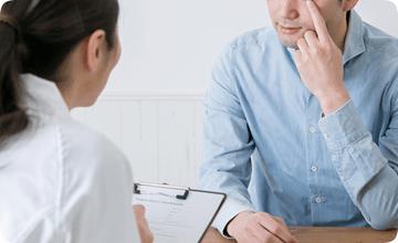 治療で大切なことは、「患者様の不安を軽くすること」